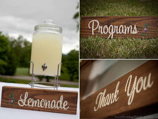 Wedding Signs - stand alone sign for table, candy bar, gift table,