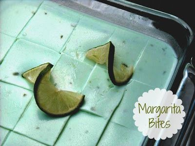 Mommy's Kitchen: Tequila Soaked Watermelon Wedges & Margarita Bites