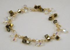 Topaz Dorado and Light Smoked Crystal Bracelet