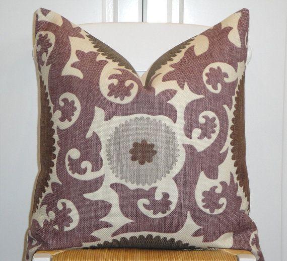 Beautiful Decorative Throw Pillows : Beautiful Decorative Pillow Cover - 20x20 - Suzani - Throw Pillow - A?