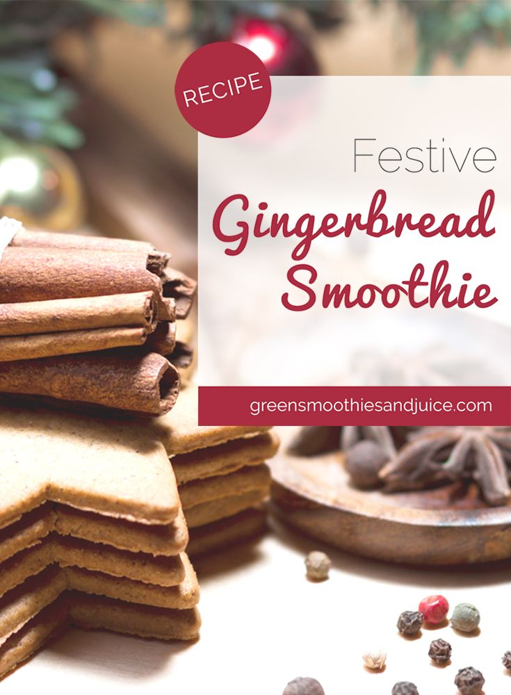This smoothie really is a treat! Warm, spicy, cozy, and delicious, this healthy smoothie tastes like the holidays.  #holidays #holidayrecipe #greensmoothie #smoothie