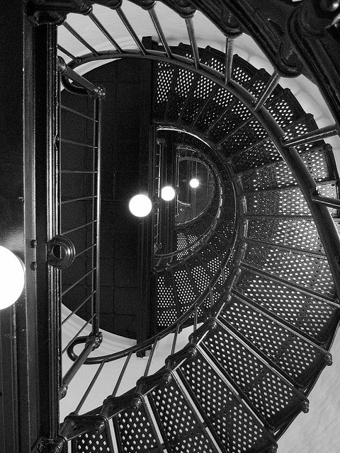A shot I took of the inside of a lighthouse in Oregon. #lighthouse