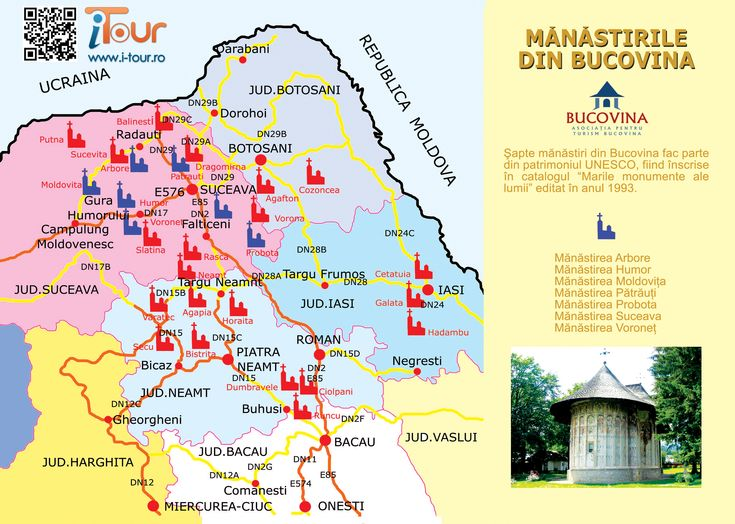 harta-manastirilor-din-#bucovina #Monasteries of Bucovina