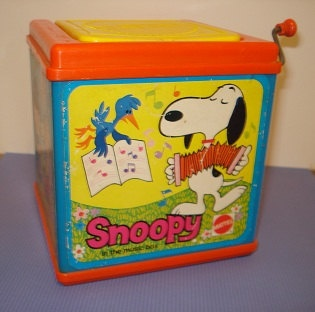 Vintage Snoopy in the Music Box