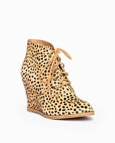 0d092eccebac Animal Print Wedge Bootie. | ~My kind of sassy SHOES~ | Pinterest