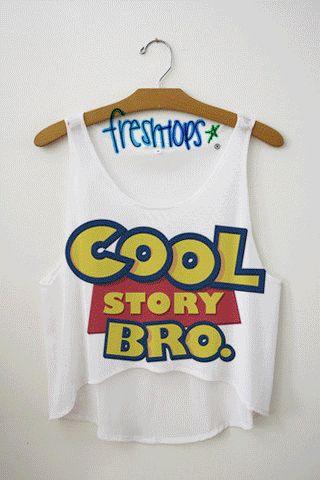 Cool Story Bro Crop Top - Fresh-tops.com