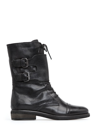 MANGO - TOUCH - Buckles leather ankle-boot
