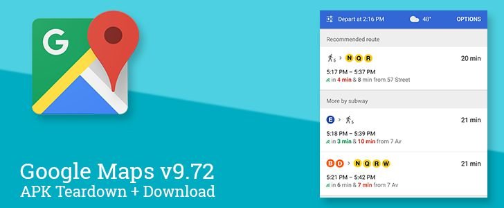 Google Maps v9.72 beta prepares to warn you about packed mass transit improve road closure reports and more [APK Teardown]