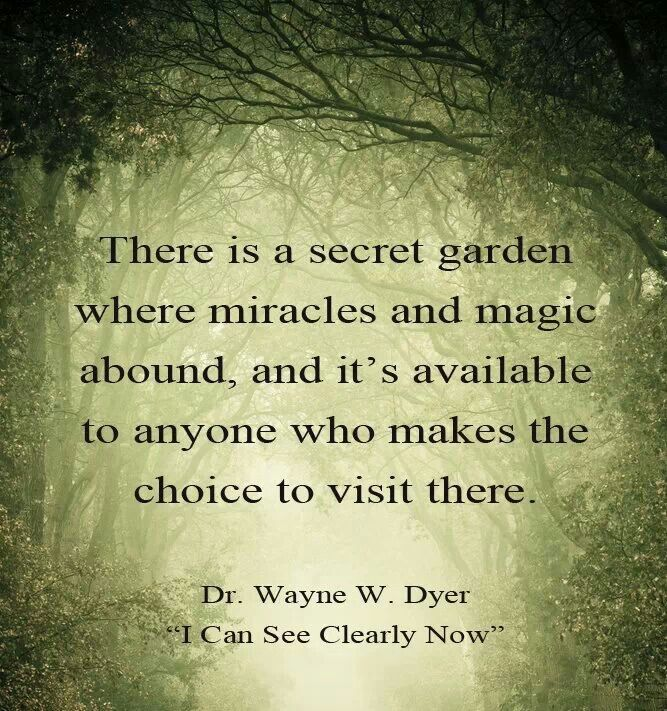 67 best books images on pinterest books book lovers and book nerd there is a secret garden where miracles and magic abound and its available to anyone who makes the choice to visit there dr wayne dyer i can see clearly fandeluxe Gallery