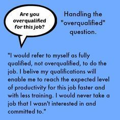 ARE YOU OVER-QUALIFIED? #FinanceJobs