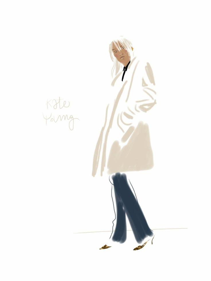 Kate Young, stylist.  #portrait #illustration Open Toe - Opentoeillustration.com