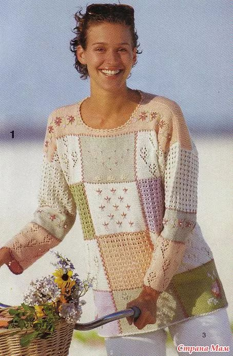 Изображение: Вязание в стиле пэчворк - Вязание спицами - Страна Мам