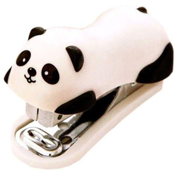 Cute Panda Mini Desktop Stapler&Staple Hand Stapler Office/Home Stapler(6*2.5CM) ($9.70) found on Polyvore