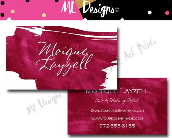 33 best business card design images on pinterest calling cards items similar to pink rose fushcia pink watercolor splash printable business cards on etsy reheart Images