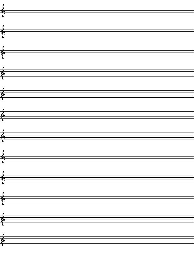 Blank Sheet Music Blank Piano Sheet Music Template