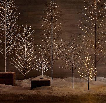 Starlit Tree, Snow - contemporary - holiday decorations - Restoration Hardware