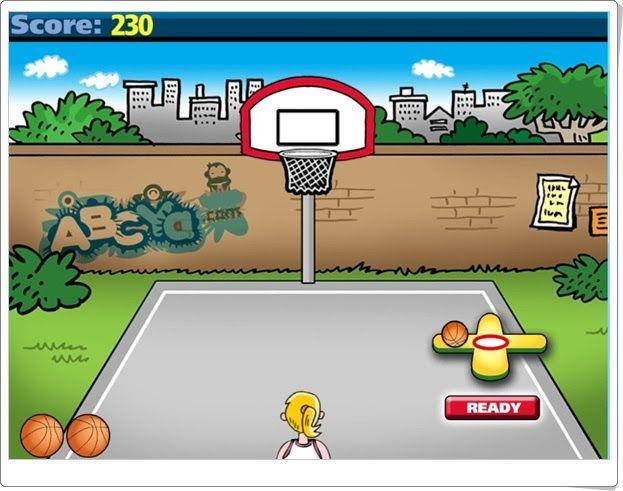 Math Facts Basketball de abcya.com (Cálculo mental)