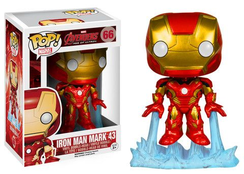 Funko Pop! Marvel: Avengers 2 - Iron Man  Robert Downey had a bionic arm like this for a little boy who did not have an arm..and he presented it to him...like Downey even more!