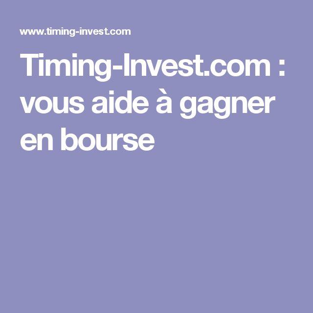 Timing-Invest.com : vous aide à gagner en bourse