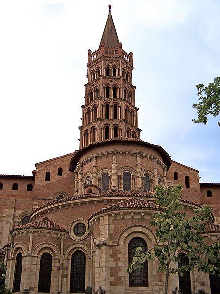 Saint-Sernin Basilica in Toulouse, France