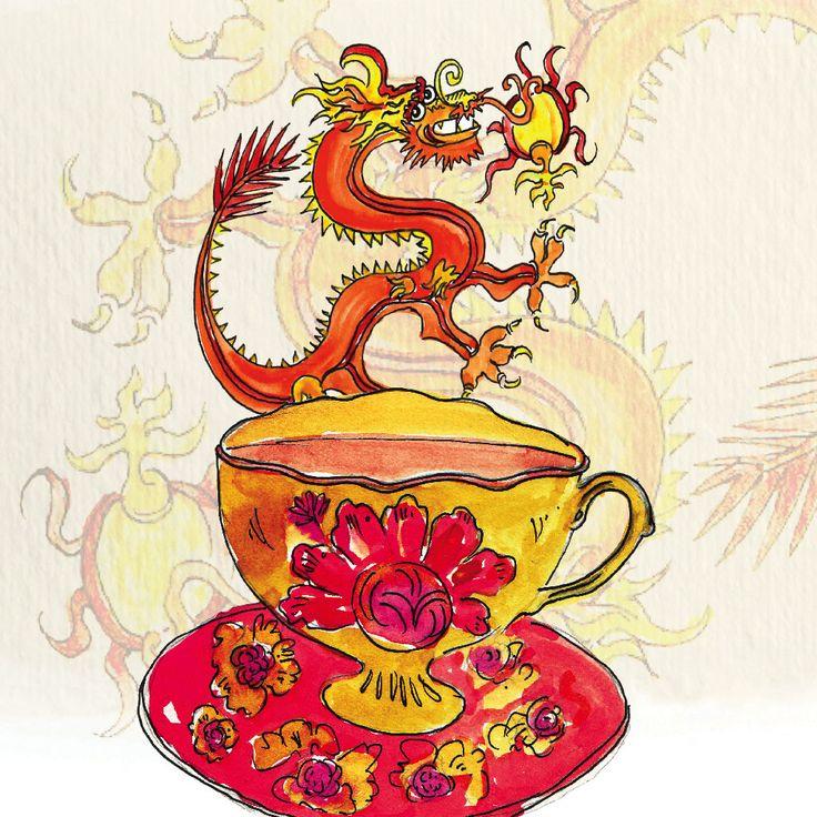 Tealia: Honey Ginseng Tea Illustration