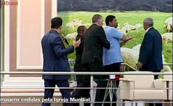 Reportagem do fantástico sobre o atentado ao apóstolo Valdemiro Santiago.