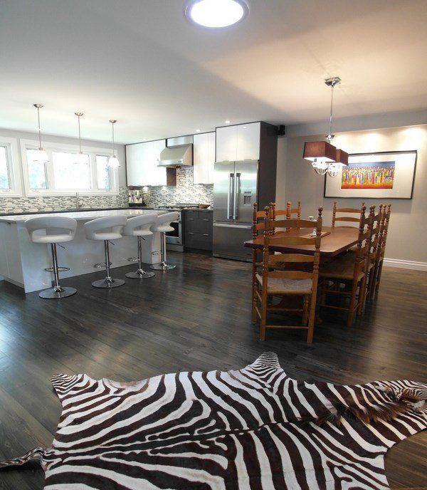 Grey Hardwood Floors Ideas White Kitchen Dining Furniture