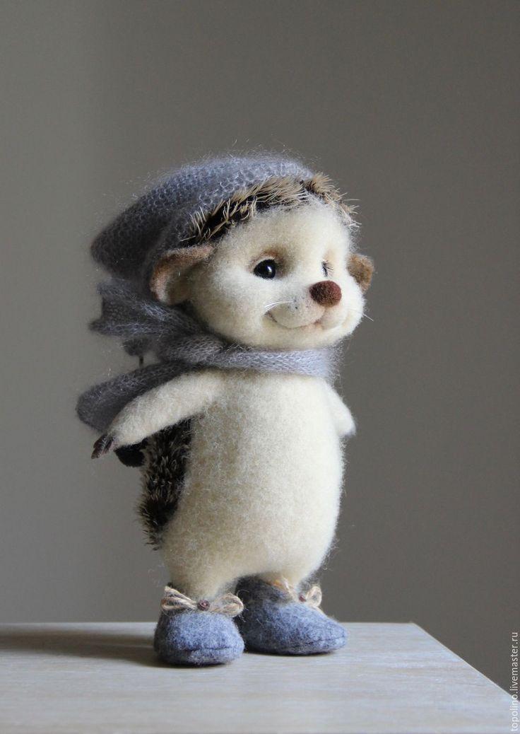 ежик валяный, ежик из шерсти, валяная игрушка,Needle felted hedgehog