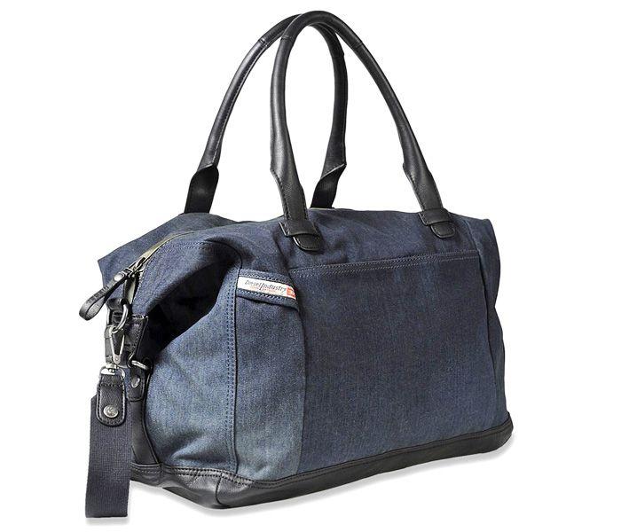 (1) Brave Trip in Blue Nights Travel Duffel Bag - Diesel 2013-2014 Fall Winter Mens Travel Bag and Backpack - Brave Trip Duffel & Hooky Daypack