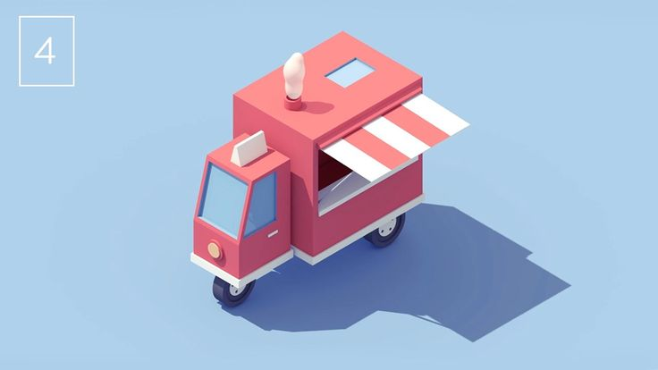 Vehicle #4 - Food Truck. Fourth video of my series of vehicles animations. > C4D (+Vray) & After effects Thanks Lullatone for the music! l...