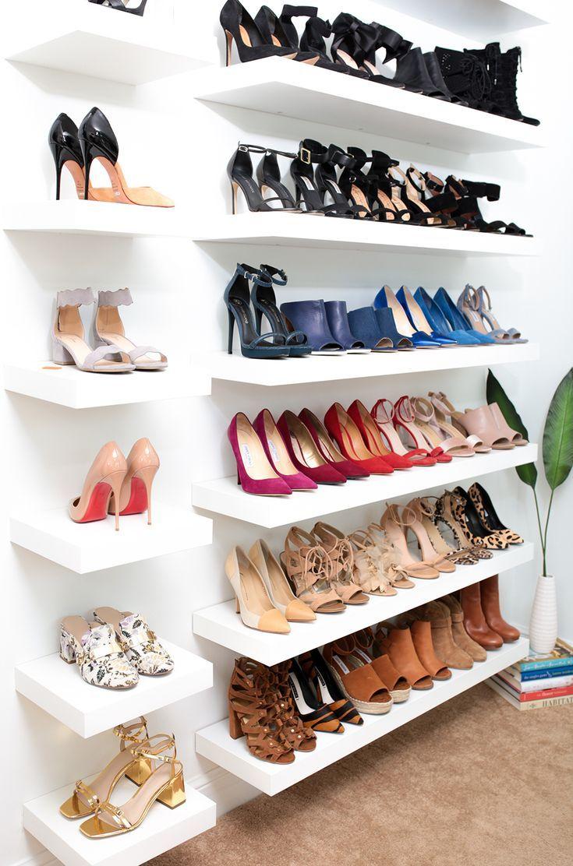 Shoe Wall Color By K Closet Shoe Storage Shoe Wall Shoe Rack