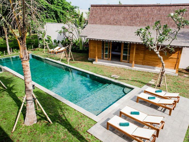 Villa Alea | 5 bedrooms | Kerobokan, Bali #garden #swimmingpool #ricefield view #bali #holiday