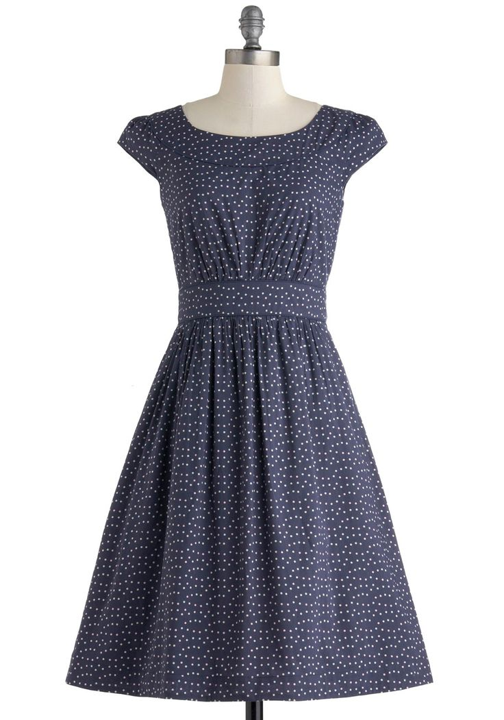 Day After Day Dress in Blue Dots, #ModCloth