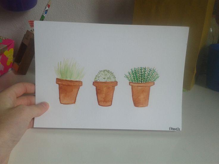 Tableau aquarelle plante