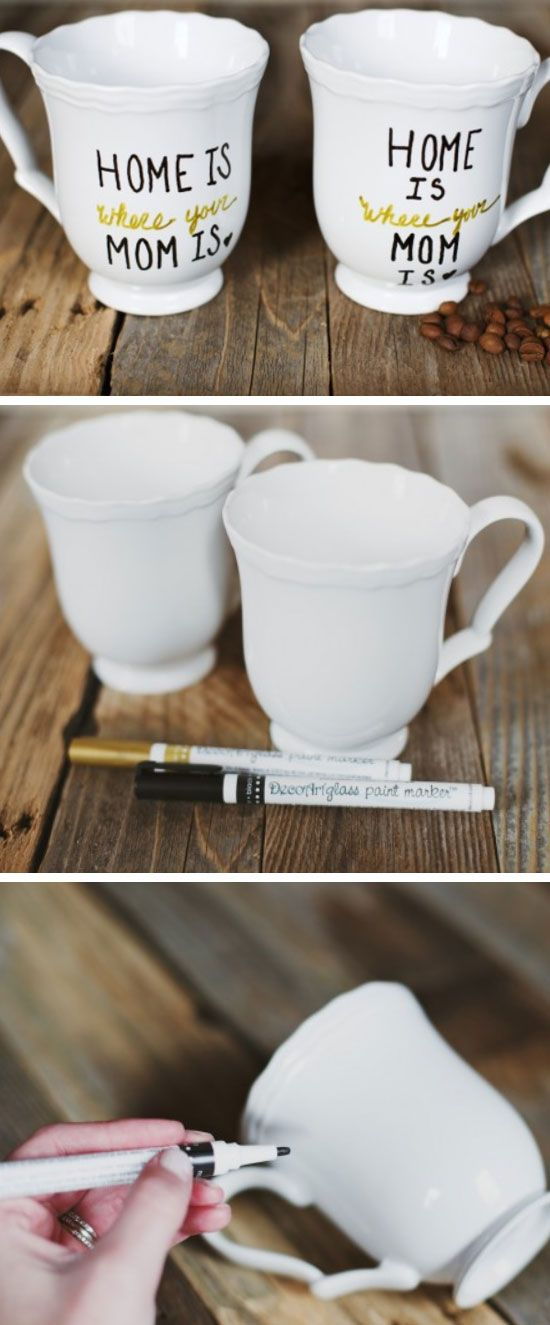 Home is Where the Mom Is, Mug | Click Pic for 18 DIY Mothers Day Gift Ideas for Kids to Make | Last Minute Mothers Day Gifts from Daughter
