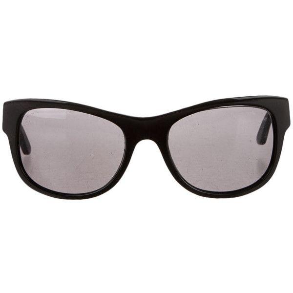 Fendi Suglasses ($130) ❤ liked on Polyvore featuring accessories, eyewear, sunglasses, black, fendi, fendi sunglasses, fendi eyewear and fendi glasses