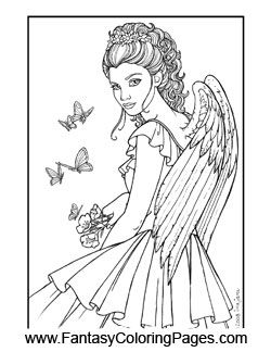 Coloring Pages Of Mermaids For Adults With Long Hair