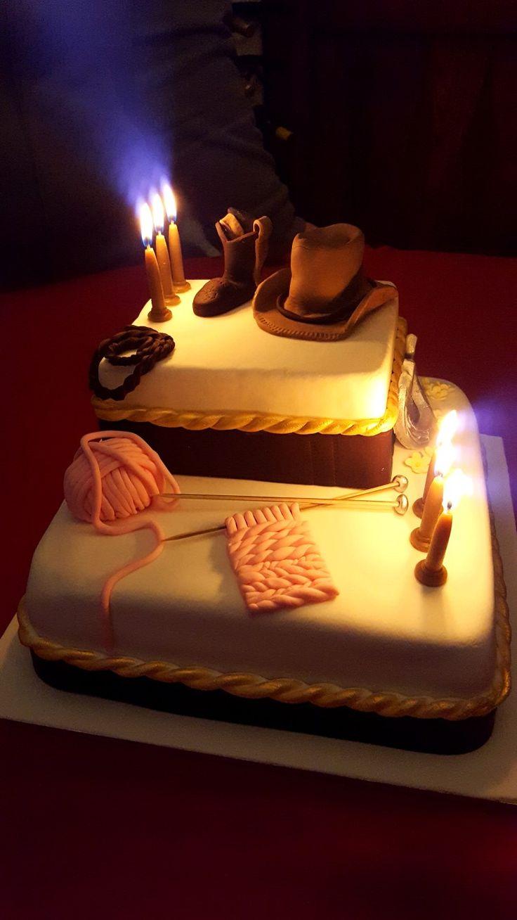 Western themed 60th Birthday cake