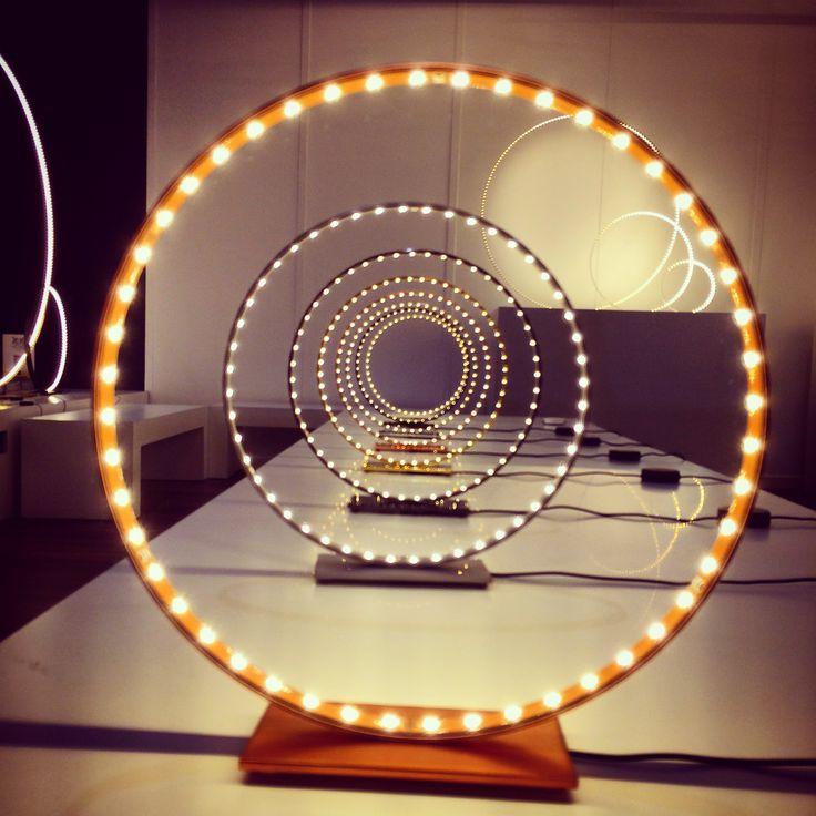 Circle LED lighting from french luxury company Le Deun #euroluce #euroluce2015 #milandesignweek #mdw #lighting #lightingdesign #instacool #milano #milan