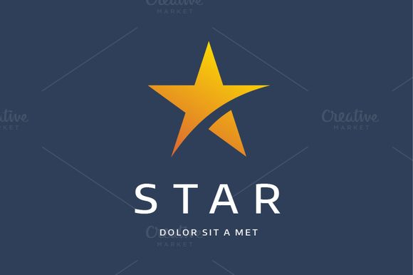 Abstract star logo template by arbuz on Creative Market
