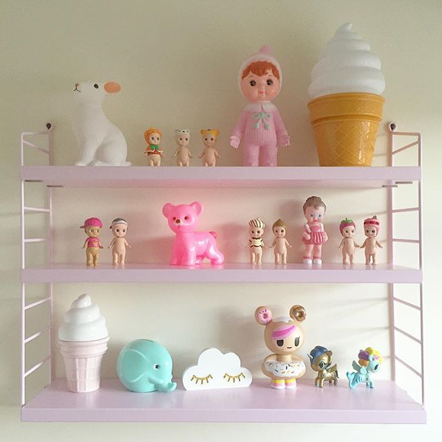 Totally kawaii and everything apart from string shelves are available online with cloud shelfie coming very soon  #retrokids #tokidoki #sonnyangels #stringshelf #fbscandilovers #pixistuff #alittlelovelycompany #icecream #norsu #lapinandme #woodlanddoll #kawaii #retro