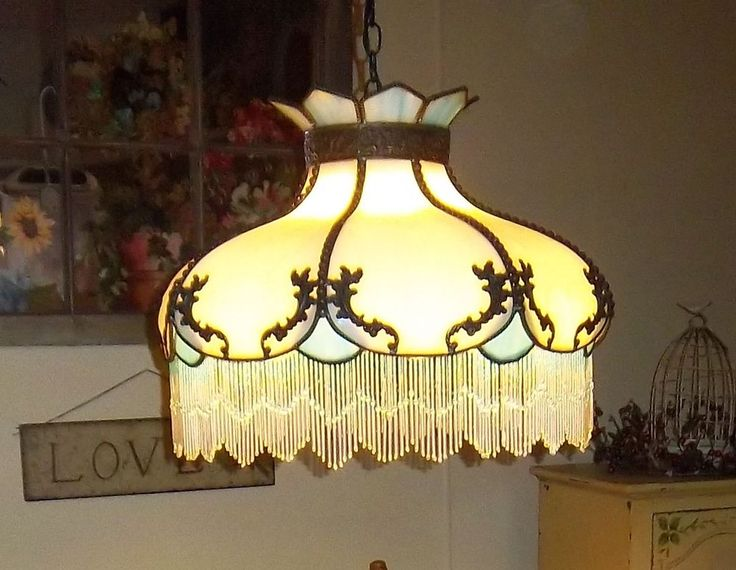 Details About Tiffany Style Stained Glass Hanging Lamp W