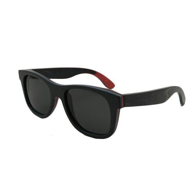 2016 Popular Cycling Eyewear  Unisex Classic Wooden Frame Polarized Sunglasses