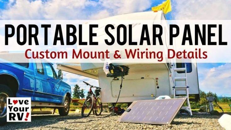 RV Tips and Tricks Portable solar panels, Solar panels