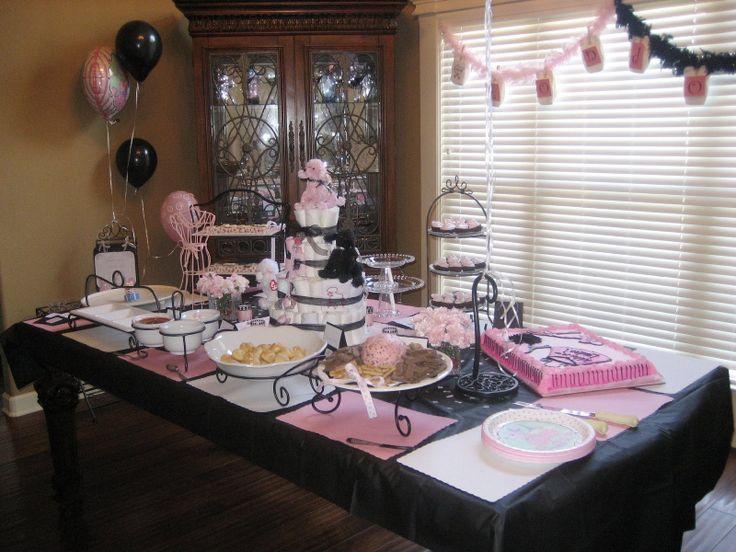 Buffet Table Elegant Serving Platters Princess Baby