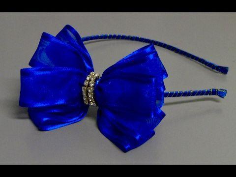 Laço de fitas de Fita Gorgurão Najar e meia perolas -Ribbon Bow - YouTube