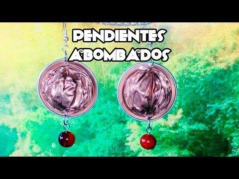 Pendientes abombados con cápsulas Nespresso (forma de nuez)
