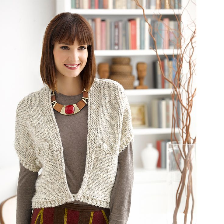 Lion Brand Wool Ease Thick & Quick Simple Stylish #crochet #knit #pattern