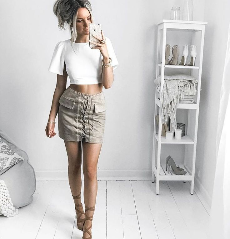 Our JACKIE SKIRT is a boho inspired, suede look mini skirt that can easily go…