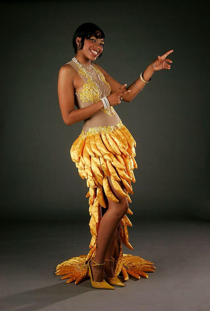 """""""Bananas"""" Josephine Baker inspired dress. Designed by ..."""